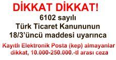 Kayıtlı Elektronik Posta (kep) almayanlar dikkat, 10.000-250.000.-tl arası ceza ile karşılaşabilirsiniz!